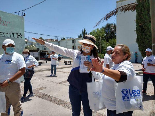 Alma Hilda Medina lleva sus propuestas a Pilar Blanco