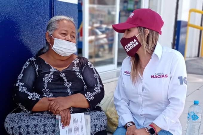 Karola Macías suma voluntades en el distrito 16