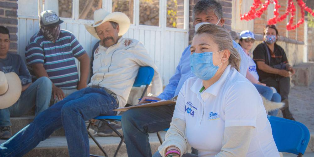 Juanis Castillo fomentará el crecimiento del campo en Rincón de Romos