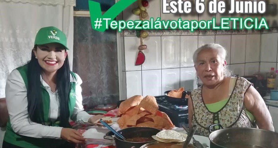 Vecinos de Tepezalá abren sus puertas a Lety Olivares