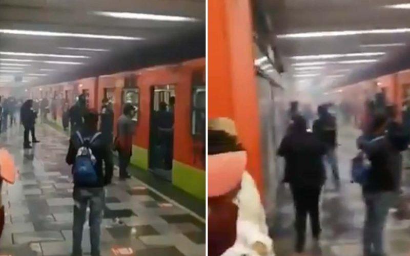 (Video)Corto circuito provoca humareda en estación Tlatelolco del Metro