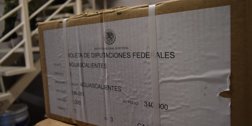 Llegan más de un millón de boletas electorales a Aguascalientes