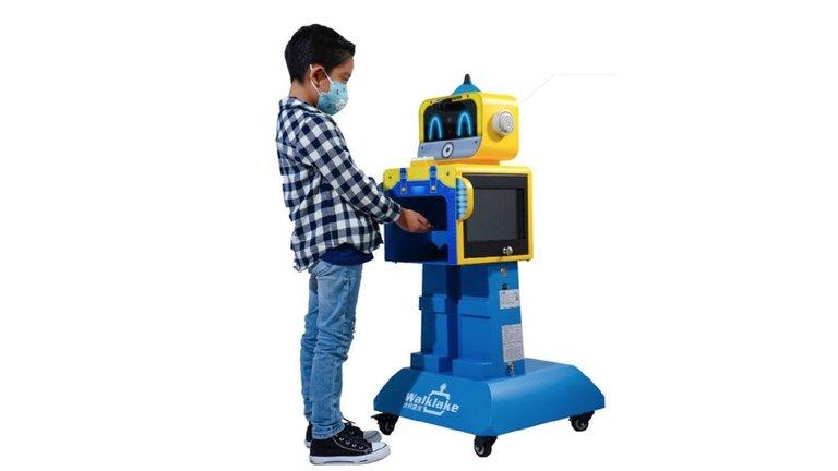 Simpático robot chino evitará contagios de COVID-19 en el regreso de clases presenciales en México