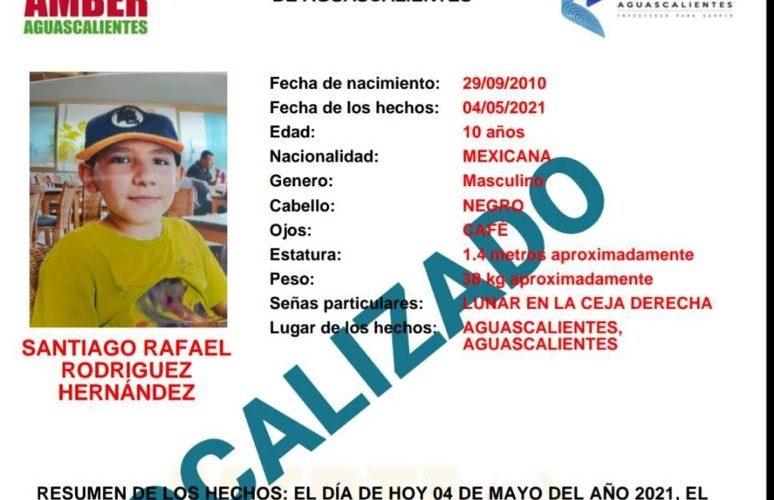 Localizan a menor reportado como extraviado en Aguascalientes