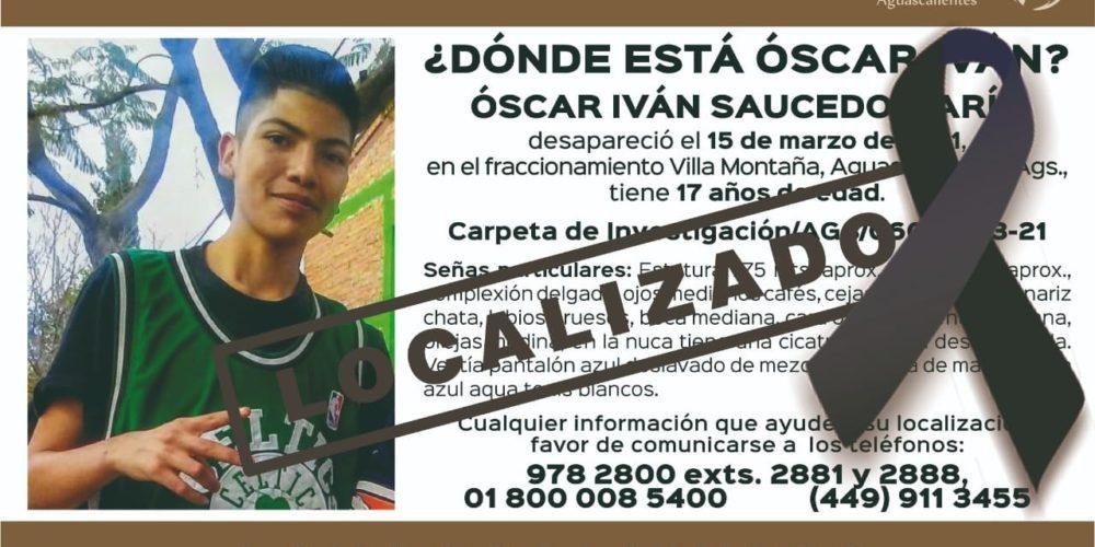 Joven fue reportado en Aguascalientes desaparecido. Lo localizaron muerto