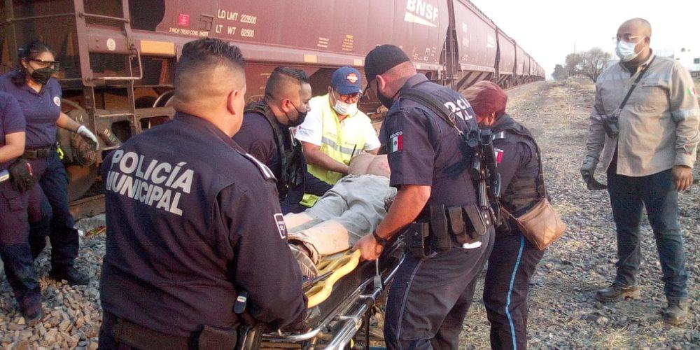 Falleció el hombre que fue arrollado por el tren en Aguascalientes