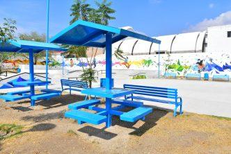 Municipio realiza mantenimiento en parques vecinales