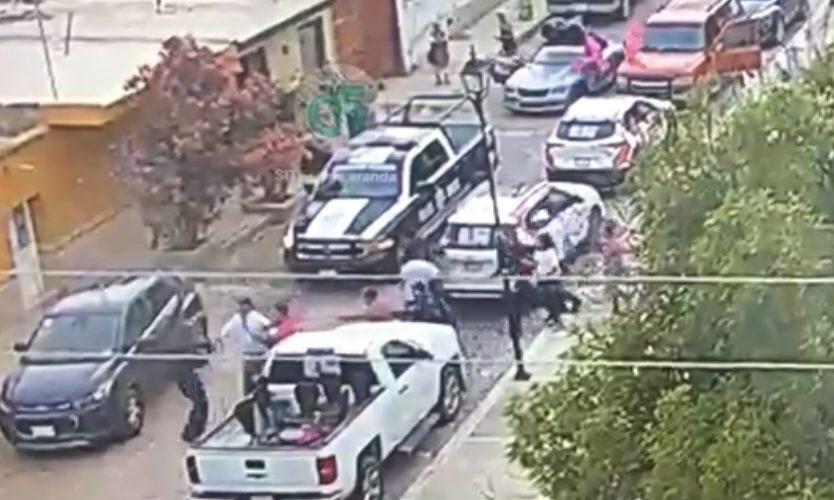 Chocan militantes de FXM vs policías de Rincón de Romos