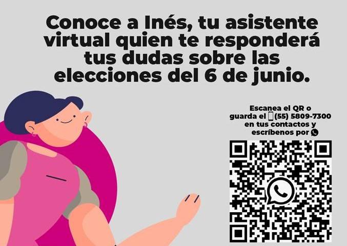 Habilita INE asistente virtual para resolver dudas sobre elecciones del 6 de junio