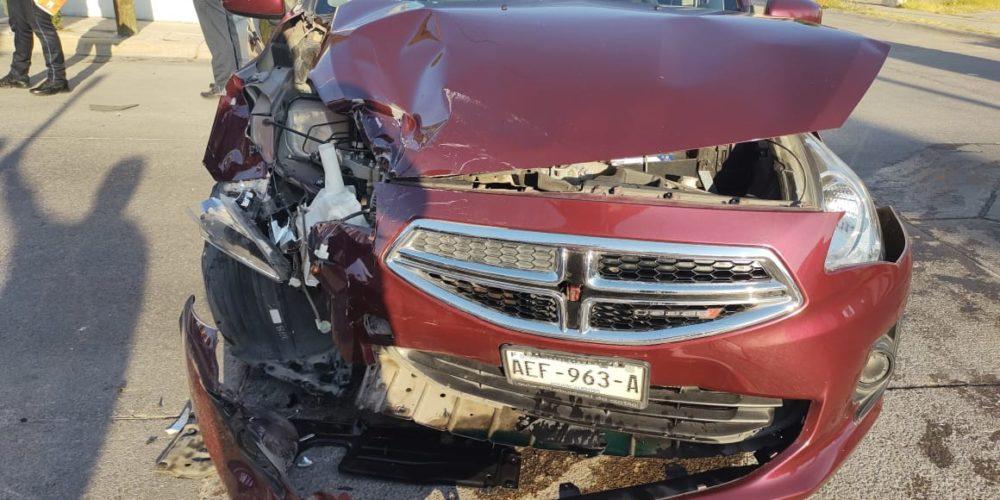 Saldo de un lesionado deja accidente en Lomas del Mirador