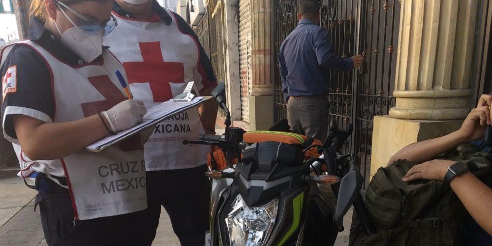 Joven sale herido tras caerse de su motocicleta en Prados del Sur