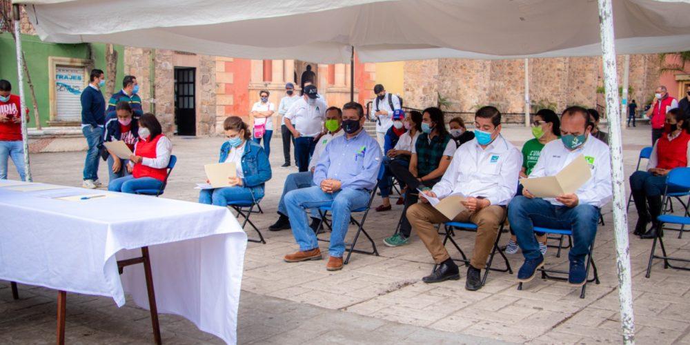 Candidatas y candidatos de Rincón de Romos firman pacto de civilidad