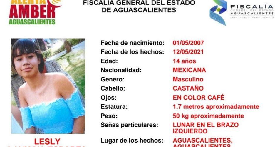 Buscan a adolescente de 14 años extraviada en Aguascalientes