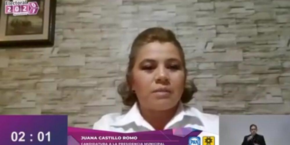 Juanis Castillo, única mujer en presentarse al debate entre candidatos a la alcaldía de Rincón