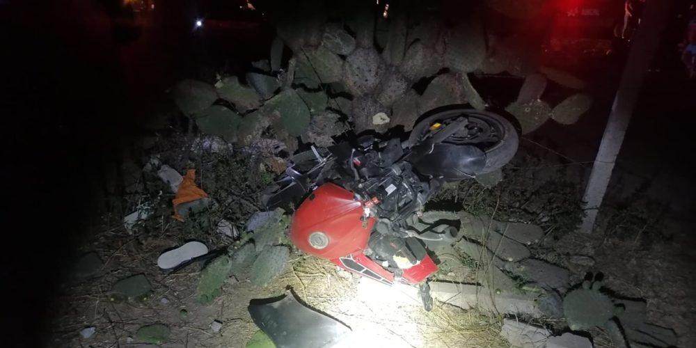 Motociclista termina hospitalizado tras accidentarse en El Llano