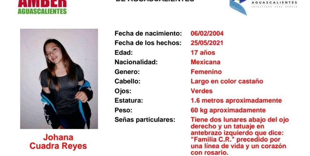 Buscan a adolescente extraviada en Aguascalientes