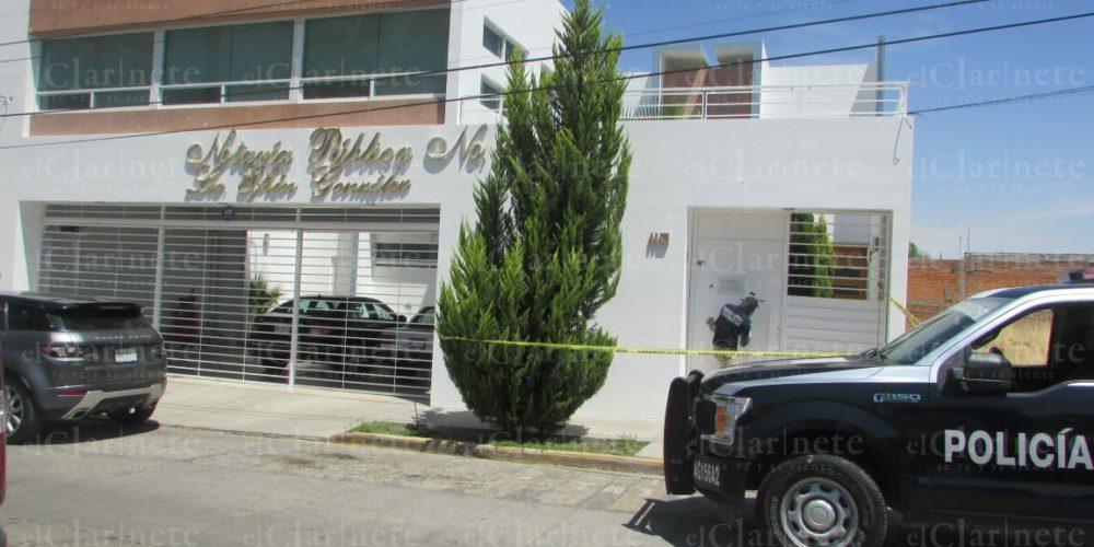Ataque a balazos en Notaría de Aguascalientes fue por pleito de una herencia