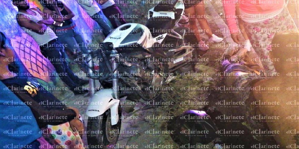 Motociclista grave tras chocar con una barda en Ojocaliente III