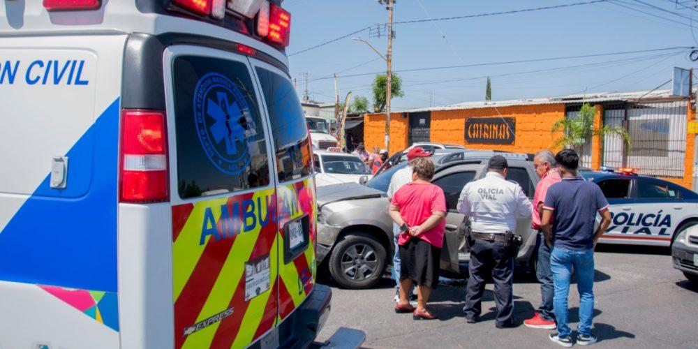 Descuido provoca accidente en el Morelos