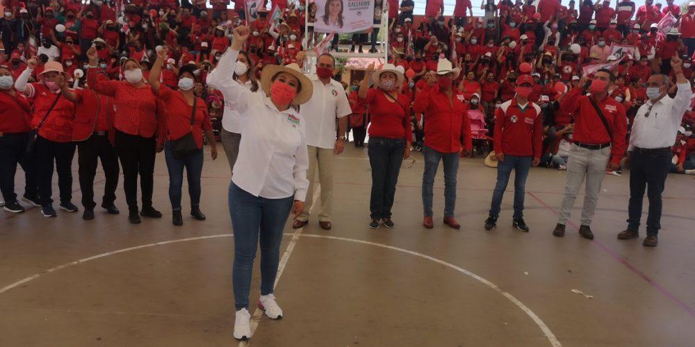 Dirigencia del PRI respalda campaña de Margarita Gallegos