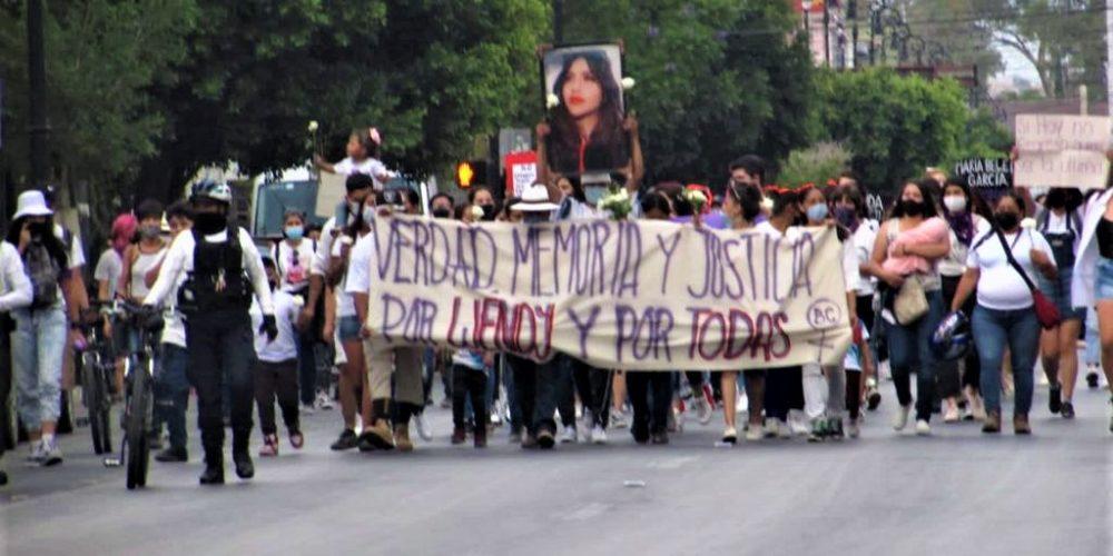 (FOTOGALERÍA) Protestan por el feminicidio de Wendy en Aguascalientes