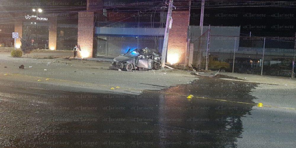 Identifican a conductor que perdió la vida tras accidentarse contra poste de la CFE en Aguascalientes