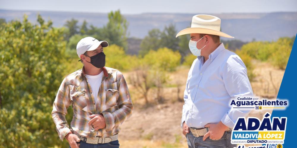 Se compromete Adán Valdivia a trabajar por el campo de Calvillo y San José de Gracia