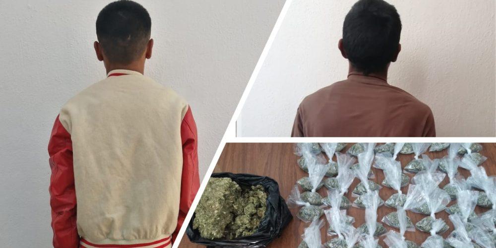 Detienen a dos sujetos con casi un kilo de marihuana en VNSA
