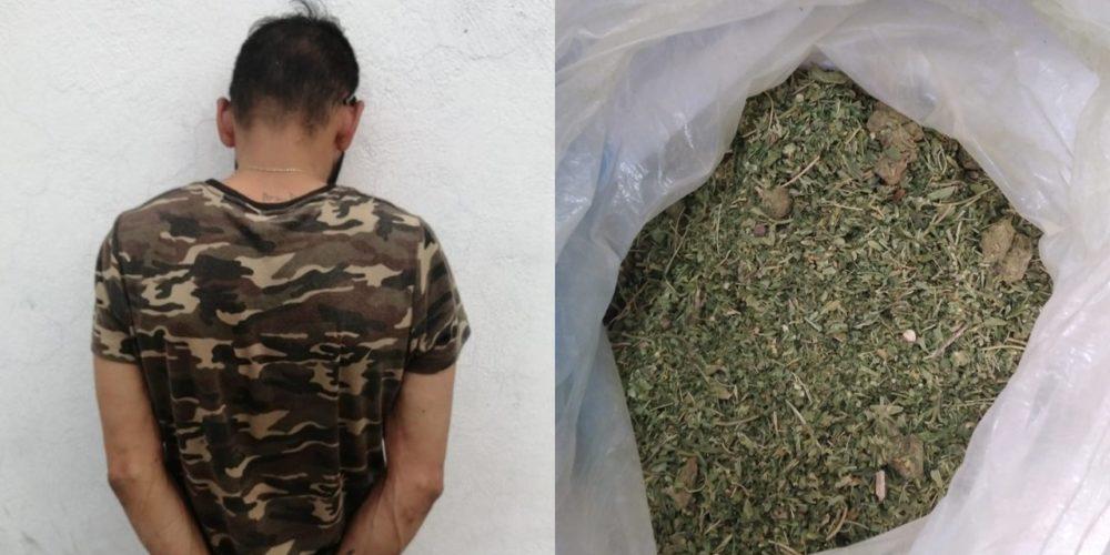 Cae Paoli José con medio kilo de marihuana en Unión Ganadera