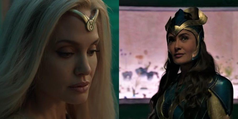 """Marvel lanza primer tráiler de """"Eternals"""" con Salma Hayek y Angelina Jolie"""
