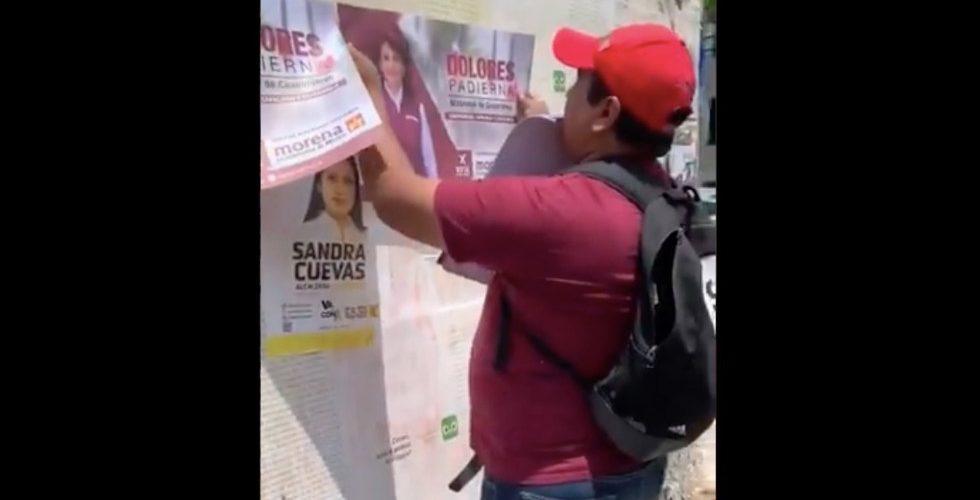 (Video)Actriz Laisha Wilkins es agredida por gente de Morena