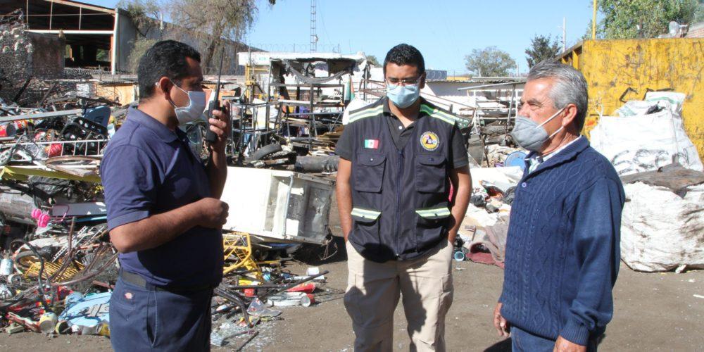 Protección Civil municipal supervisa operación de recicladoras