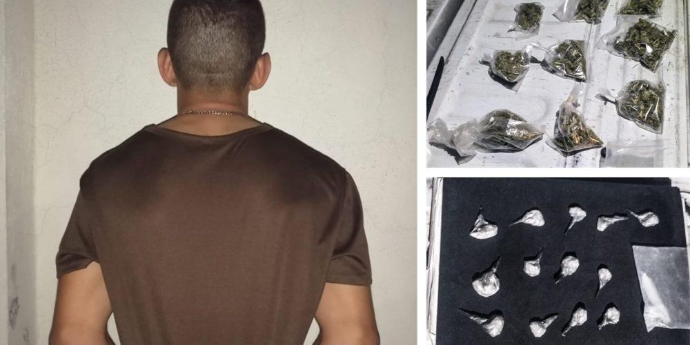 Aseguran a distribuidor de marihuana y cristal en el Barrio de la Estación