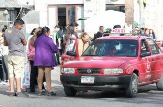 Aumenta demanda de pasaje en taxis de Aguascalientes en 60%