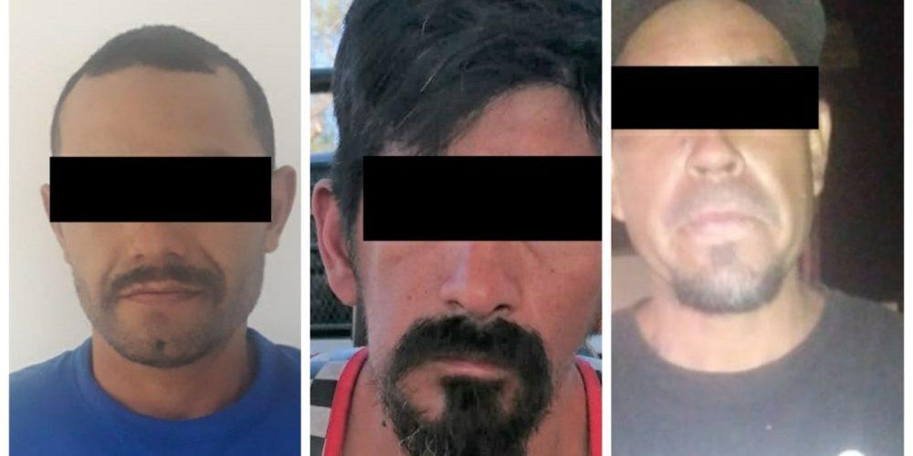 Detienen a 3 sujetos que contaban con ordenes de aprehensión