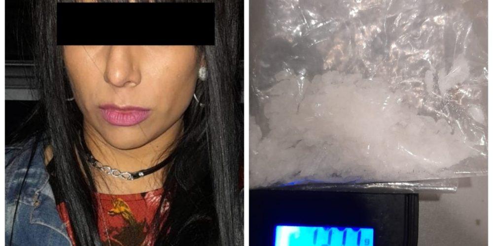 Oyuki fue detenida con crystal en San Pancho