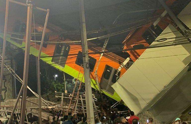 (Videos)Al menos 50 lesionados por colapso de estructura en Línea 12 del Metro en la CDMX