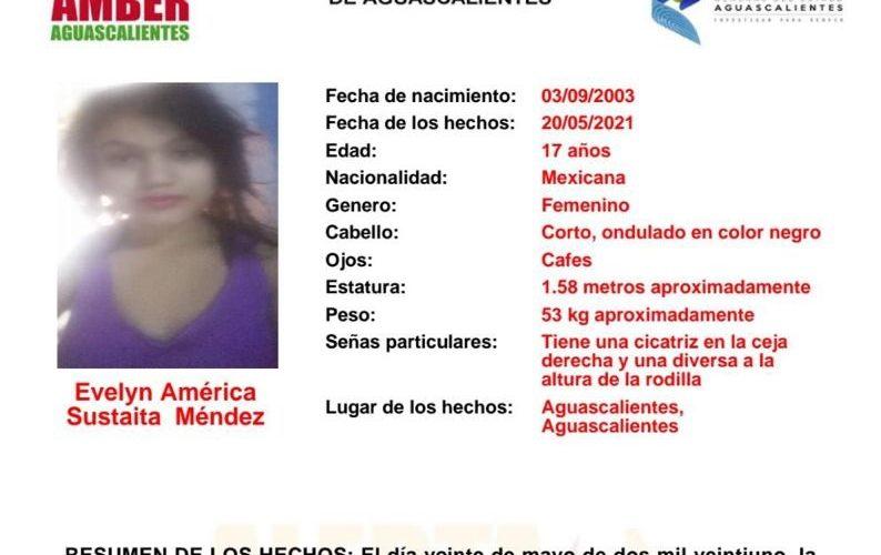 Buscan a adolescente de 17 años extraviada en Aguascalientes