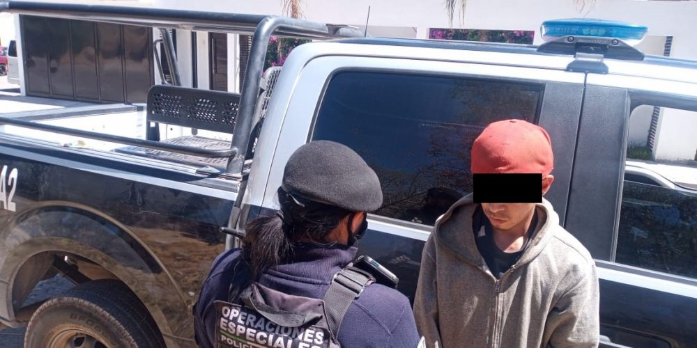 Capturan a distribuidor de drogas en Rincón de Romos
