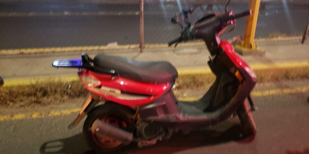 Se registra caída de motocicleta al norte de la ciudad