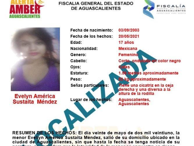 Localizan a menor extraviada en Aguascalientes