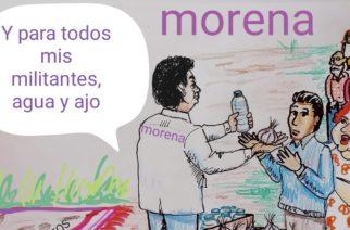 Agua y ajo para militantes de Morena