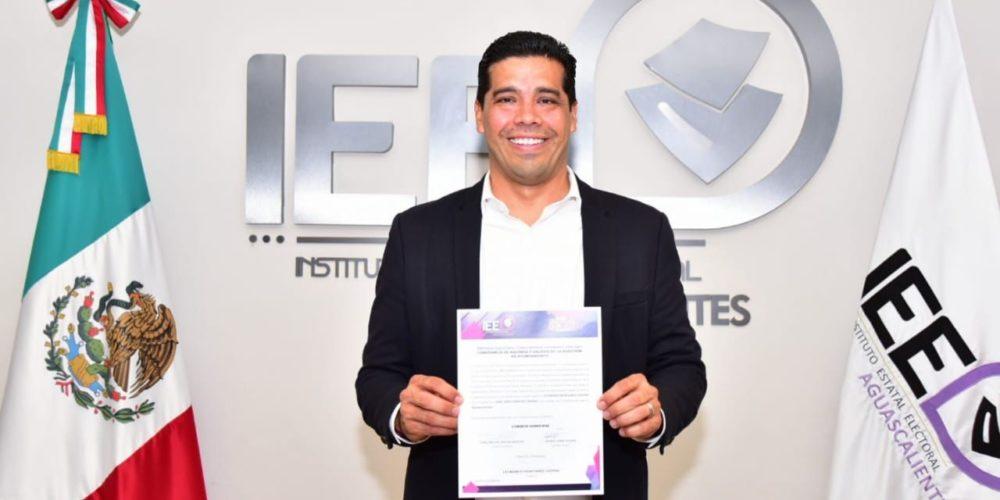 Entregan constancia de mayoría a Leo Montañez como alcalde electo de Aguascalientes