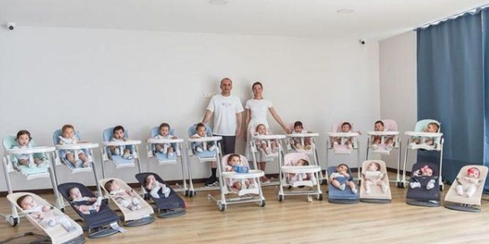 Pareja logra tener 20 hijos con ayuda de vientres de alquiler