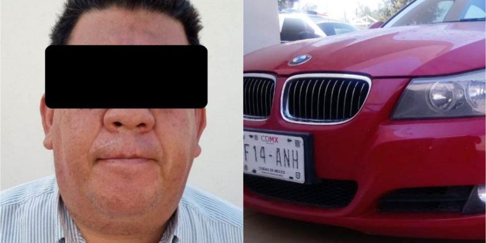 Carlos se paseaba en coche robado