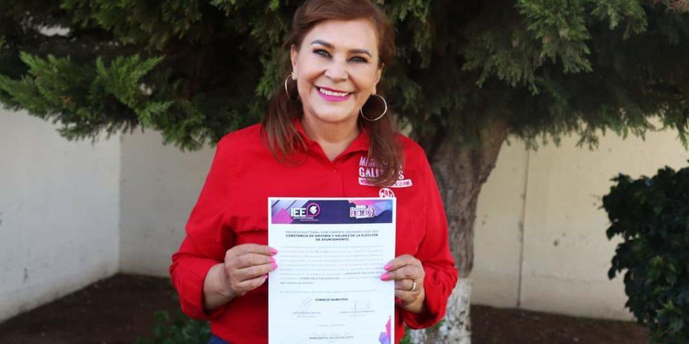 Entregan constancia de mayoría a Margarita Gallegos como alcaldesa electa de SFR