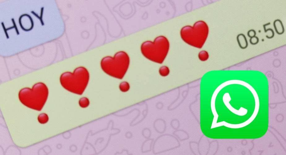 Este es el significado del corazón con un punto rojo en WhatsApp