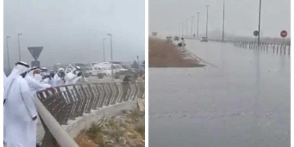 """""""Siembran"""" nubes para crear lluvia artificial y combatir el calor en Emiratos Árabes"""