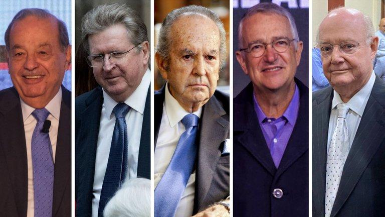 Checa las fortunas de los 5 hombres más ricos de México