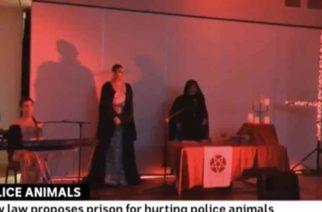 (VIDEO) Por error transmiten ritual satánico en pleno noticiero de Australia